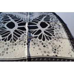 Foulard Butterfly 90 Black and White